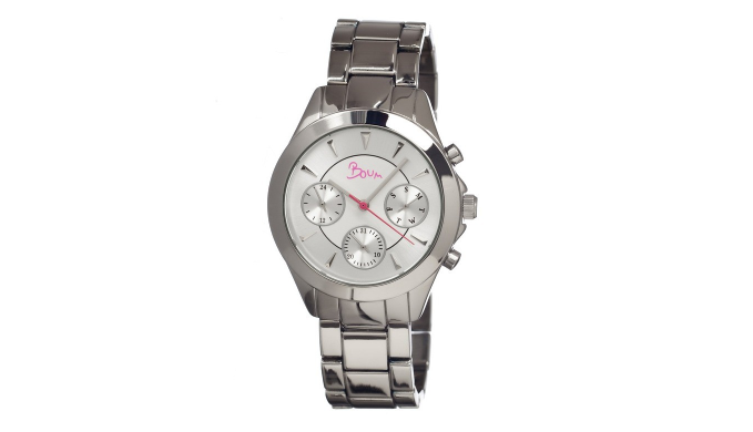 Boum Baiser  Stainless Steel Case Ladies Watch - Ships Same/Next Day!