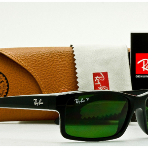 Ray-Ban Polarized Rectangular Black Classic Sunglasses (RB4151 601/2P) - Ships Next Day!