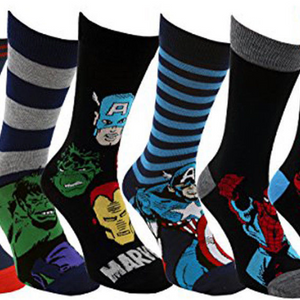 HUGE PRICE DROP - 4, 8, or 16 Pairs: Marvel DC Disney Assorted Super Hero Socks (Size 6-12) - Ships Next Day!