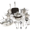 Wolfgang Puck Bistro Elite 19-piece Stainless Steel Cookware Set - Ships Next Day!