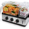 Wolfgang Puck 3-Chamber 9-Quart Electric Steamer with Recipes - Ships Next Day!