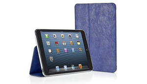 Blue Distressed Leather Folio Case for iPad Mini & Retina by XtremeMac - Ships Next Day!