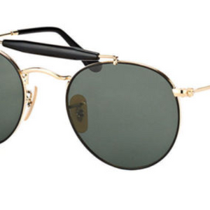 442c2a596aa Ray Ban Gold Metal Round Green Polarized Sunglasses (RB3747 900058 50MM) - Ships  Next