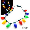 Christmas Light Bulb Necklace With Flashing Lights - Ships Next Day!