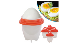 Pack of 4: Eggs Fast - No More Peeling and Quick Egg Maker - Ships Next Day!