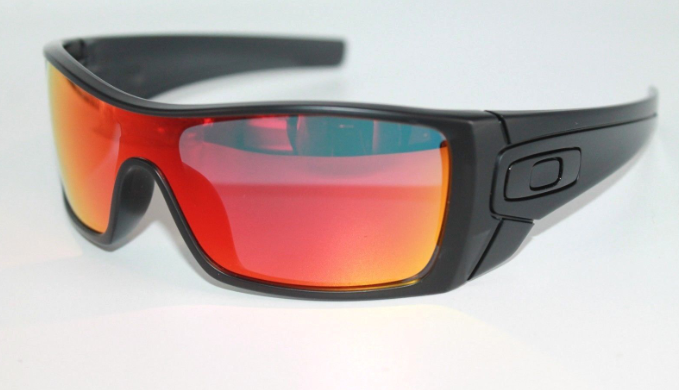 Oakley Batwolf Black/Ruby Sunglasses (Store Display Units) - Ships Next Day!