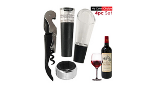 Great Gift: 4 Piece Wine Gift Set - Ships Next Day!