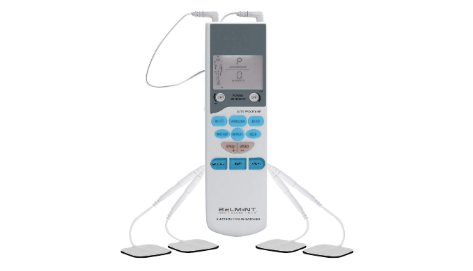 Tens Electronic Pulse Massager for Muscle Stiffness, Soreness, Chronic Pain and Stress - Use Code PreFB5 for 5% Off!