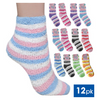 Ladies Soft Warm & Cozy Crew Socks - Packs of 12, 24, 36 and 48 - Ships Next Day!