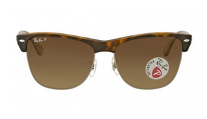 Ray-Ban Clubmaster Oversized Polarized Brown Gradient Sunglasses - Ships Next Business Day!