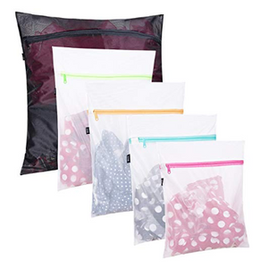 5 Pack: Mesh Zippered Laundry Bags - 1 Extra Large, 2 Large & 2 Medium - Ships Next Day!