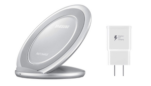 Samsung Qi Certified Fast Charge Wireless Charge Pad + Stand + Wall Charger - Ships Next Day!