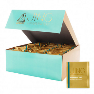 JING Peppermint Whole Leaf Tea (100 Tea Bags) - Ships Next Day!