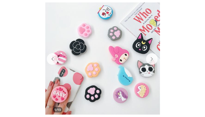 4 Pack: 3D Cartoon-Style Cute Pop Expanding Universal Phone Holder/Stand (Random Selection) - Ships Next Day!