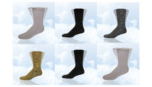 6 Pairs: Simcan Diabetic Comfort Socks (Assorted Styles/Colors) - Ships Next Day!