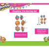 30 Pieces: Shopkins Earrings, Pendants and Necklaces - Assorted (10 Packs of 3)
