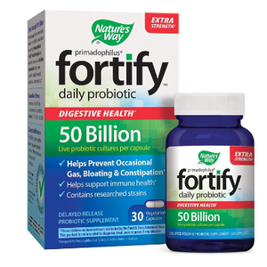 FINAL PRICE DROP: Nature's Way Primadophilus Fortify Extra Strength Adult Daily Probiotic 50 billion (30 Vegetarian Capsules) - Ships Next Day!
