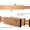 4 Pack: Bamboo Adjustable Drawer Dividers - Organize Today - Ships Next Day!