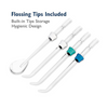 Electric Water Jet Pick Oral Cleansing Flosser + 3 Nozzles, Tongue Scraper & Case - Ships Next Day!
