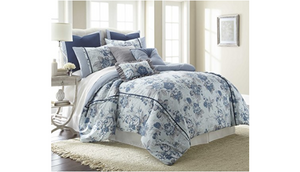 Amrapur Overseas Floral Farmhouse 8-Piece Comforter Set (Queen) - Ships Next Day!