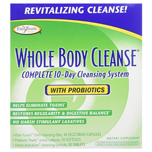 (Recently Expired) Enzymatic Therapy Whole Body 10-Day Cleansing Kit with Probiotics - Eliminiates Toxins & Restores Digestive Balance - Ships Next Day!