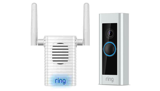 Ring Video Doorbell Pro and Chime Pro Bundle - Ships Next Day!