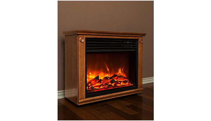 LifeSmart Large Room Infrared Fireplace w/ Remote - Ships Next Day!