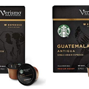 72 Count: Starbucks Verismo Single-Origin Espresso Pods (Medium Roast) - Ships Next Day!