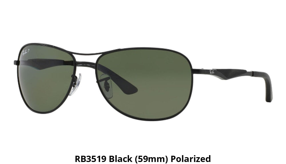 59537204bb Ray-Ban Polarized Sunglasses Liquidation Sale - Ships Next Day! Rb3519 Black  (59Mm