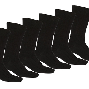 Mechaly Men's Solid Plain Dress Socks (10-13) - Ships Next Day!