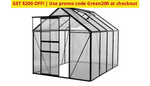 Walk-In 6 X 8 Lawn And Garden Greenhouse With Heavy-Duty Aluminum Frame - Use Promo Code Green200