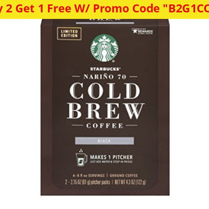 9 Pitcher Packs Of Starbucks Nariño 70 Cold Brew Medium Roast Coffee (Past Best By Date) - Ships