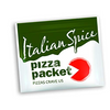 100 Pack: Pizza Packet - Portioned Pizza Seasoning Packets - Parmesan Cheese, Italian Spice, Garlic Powder, Crushed Red Pepper and Oregano Spices (20 of Each Flavor)