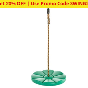 Swingan Cool Disc Swing With Adjustable Rope - Ships Next Day!
