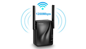 Rock Space WiFi Range Extender w/ 1200Mbps Signal Booster - Say goodbye to dead spots in your home/office - Ships Next Day!