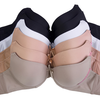 6 Pack: Mechaly Polyester Plain Seamless Comfort Assorted Colors Bras - Ships Next Day!