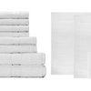 Luxury Hotel 100% Cotton Super Soft Bath Towels + Mats 14 Piece Gift Set (2 Bath, 2 Hand, 8 Washcloth, 2 Large Mats)