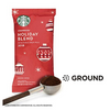 "HUGE PRICE DROP: 64 Count - Starbucks Holiday Blend Medium Roast Ground Coffee (Past ""Best By"" Date) - Ships Next Day!"