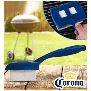 Corona Extra Safe & Efficient Pumice Stone BBQ Grill Scrubber Brush - Ships Next Day!