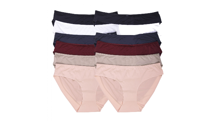 Mechaly Women's 12 Pack Apparel Lace Hipster Bikini Panties  (2Cream, 2Coral, 2Plum, 2Taupe, 2Grey, 2Black) - Ships Next Day!