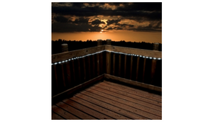 1 or 3 Pack: Solar LED String Rope Lights w/ Stake and Wall Mount - Ships Next Day!
