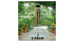 "Pack of 3: 29"" Outdoor Wind Chime - Ships Next Day!"