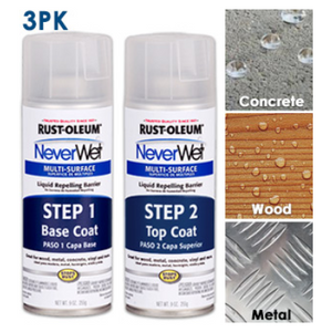 PRICE DROP: 3, 6 or 9 Pack - Rust-Oleum NeverWet Spray Kit - Repels Water, Mud, Ice & More!