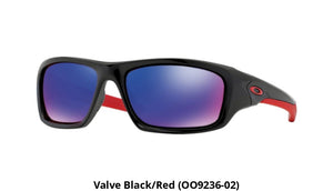 Oakley Valve Sunglasses (Brand New Units) - Ships Next Day! Black/red (Oo9236-02)