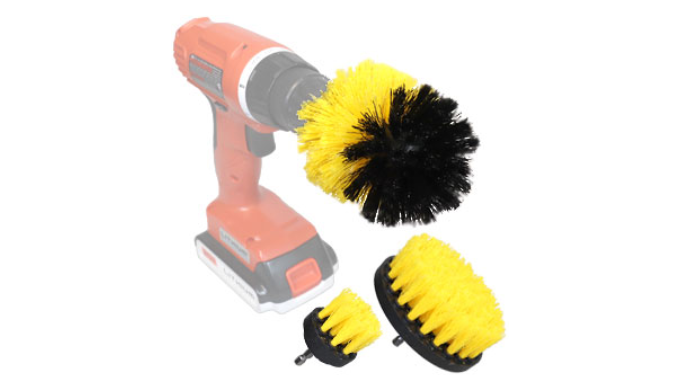 3 Piece Scrubber Power Drill Attachment Set (Bulk Discounts - Ships Next Day!