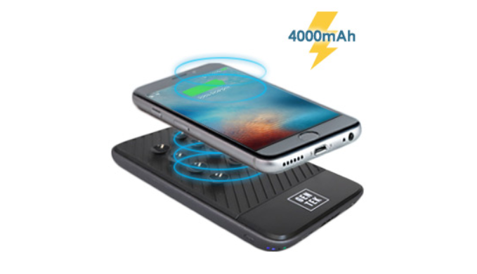 Suction Cup Wireless Charging Power Bank - Ships Next Day!