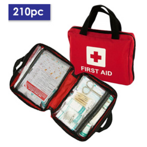 BE PREPARED! Emergency 210 Piece First Aid Kit for Home, Car or Office - Ships Next Day!