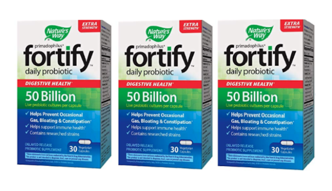 FINAL PRICE DROP: 3 Pk - Nature's Way Primadophilus Fortify Extra Strength Adult Daily Probiotic 50 billion (Recently Expired) - Ships Next Day!