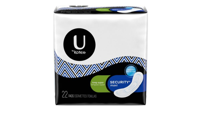 264 Pads: U by Kotex Security Maxi Pads, Long Super, Unscented - Ships Quick!