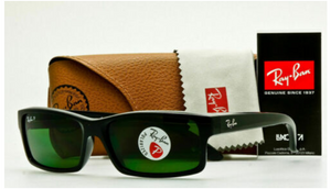 Ray-Ban Polarized Glossy Black W/Green Lens Sunglasses (RB4151 601/2P 59MM)